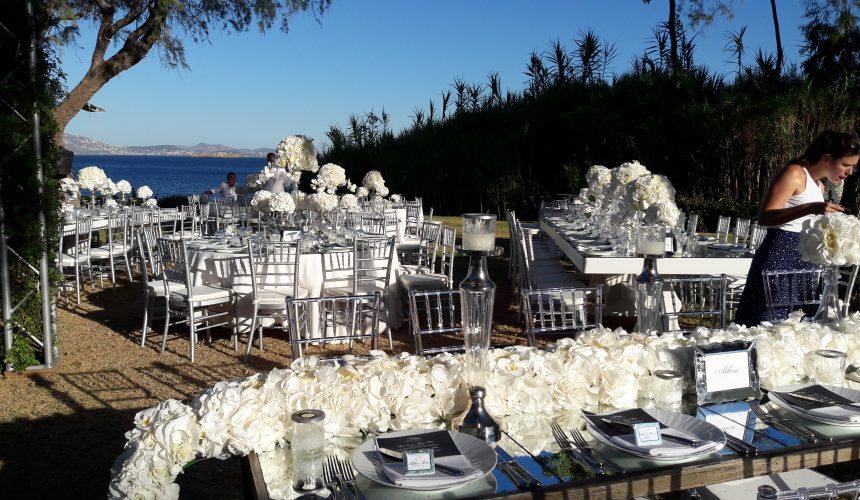 Luxury White Wedding at Athens Riviera Island   Γάμος  στο Island Αθήνα