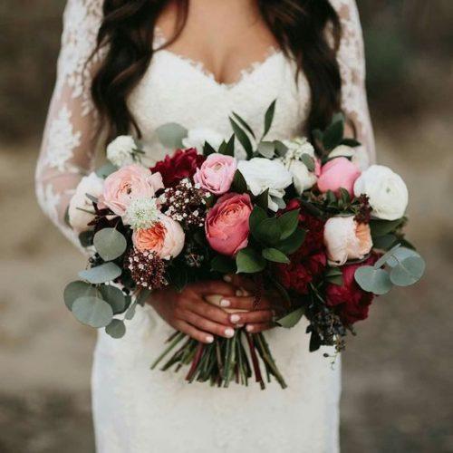 20 CHARMING IDEAS FOR A BURGUNDY/BLUSH WEDDING Gamos stolismos