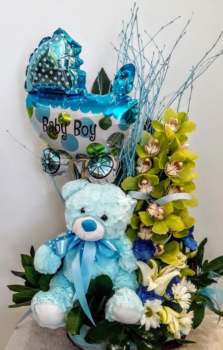 Baby boy arrangement