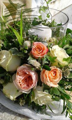 Σύνθεση επιτραπέζια με garden roses