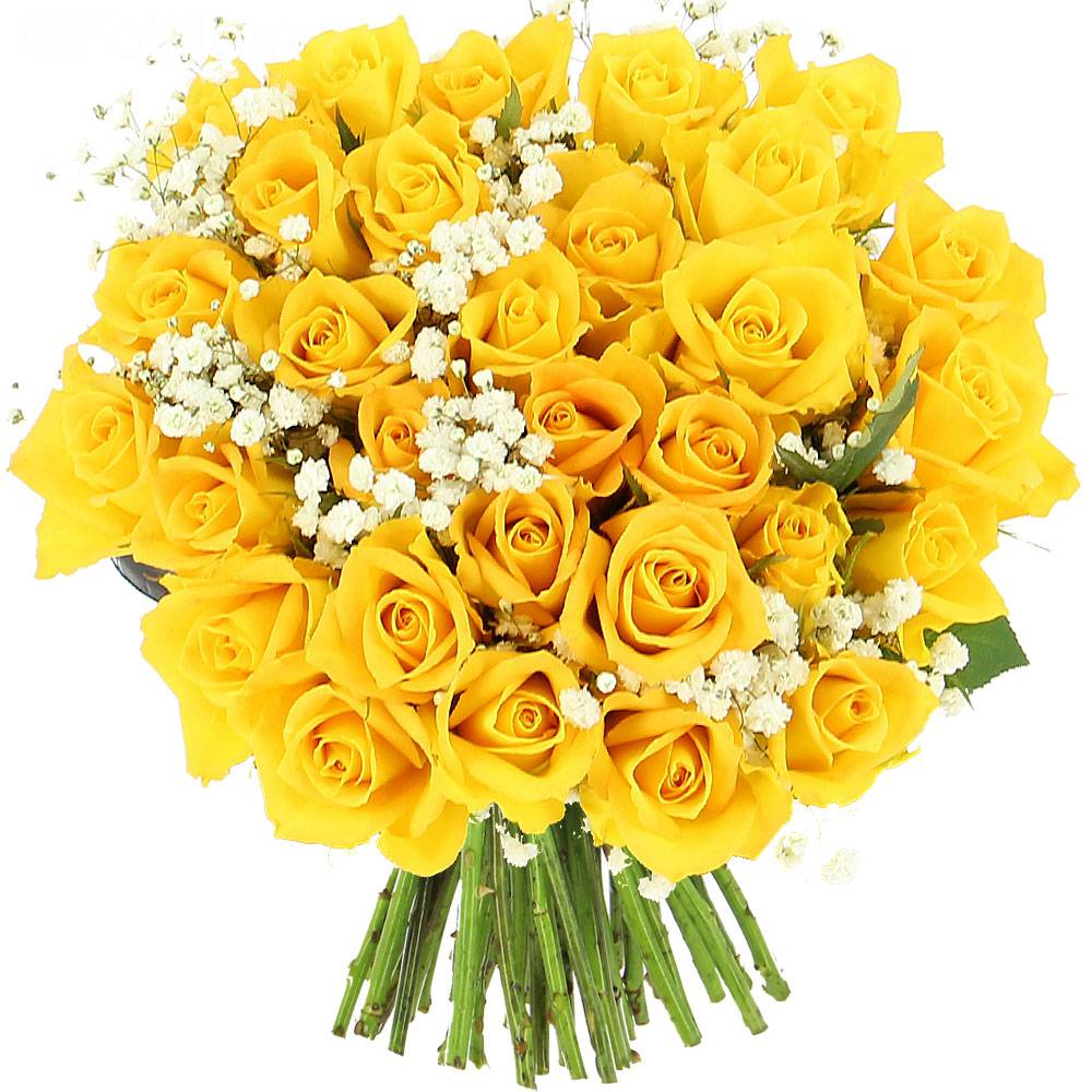 bouquet-roses yellow 3