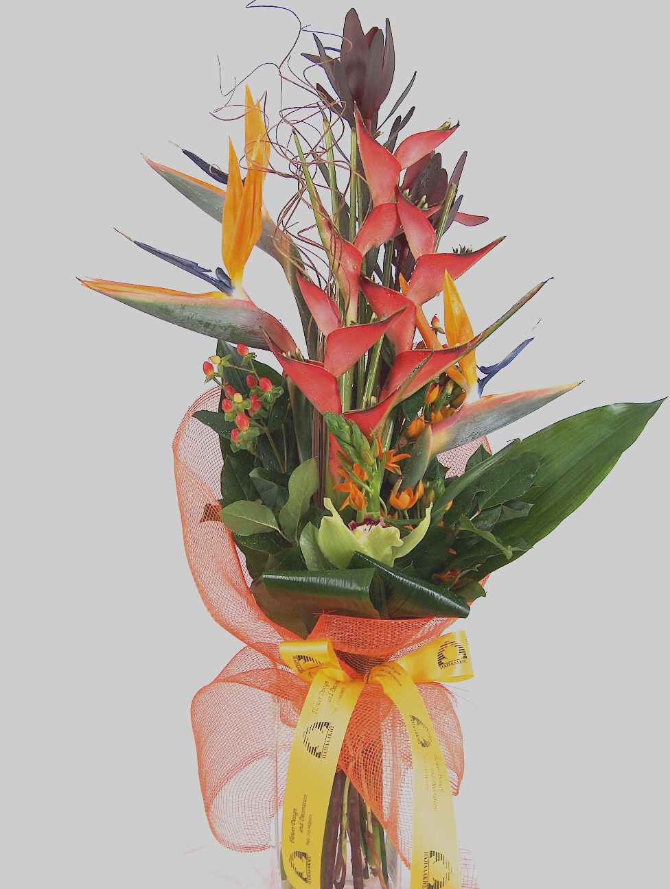bouquet with tropical flowers ΡΩΞΑΝΗ