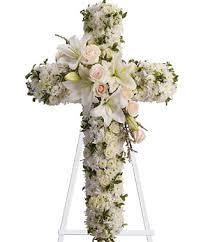 2 funeral cross flowers