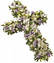 3 funeral cross flowers