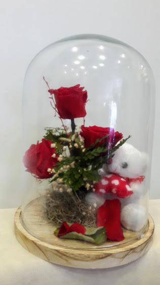 forever roses glass tube 2
