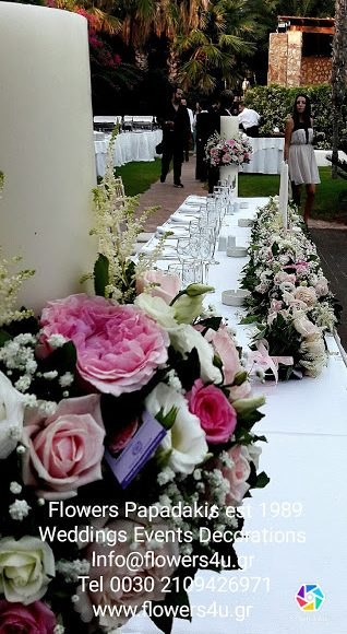 WEDDING WITH PINK GARDEN ROSES