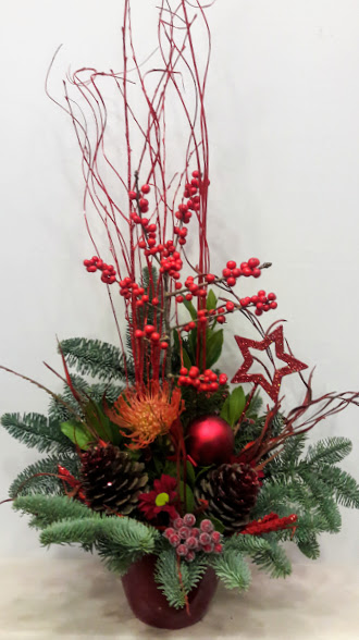 christmas arrangement linear