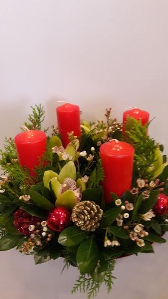 christmas center piece 4 candles (2)