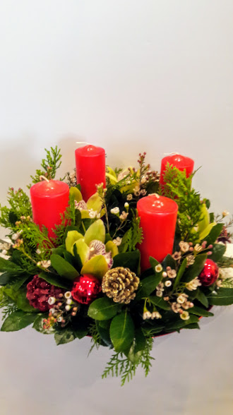 christmas center piece 4 candles