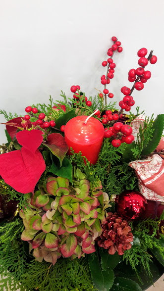 christmas center-piece with candle1ajpg