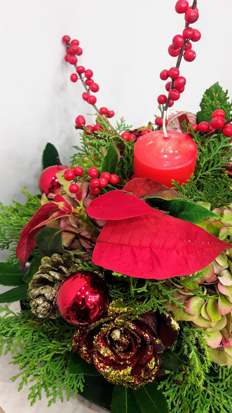 christmas center-piece with candle1bjpg