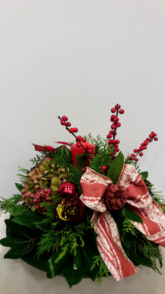 christmas center-piece with candle1jpg