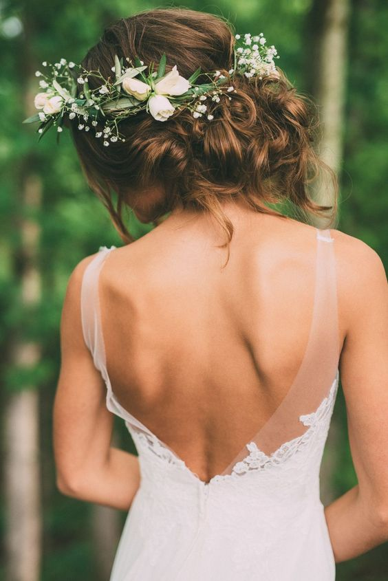 flowers crowns hairstyle floral ideas