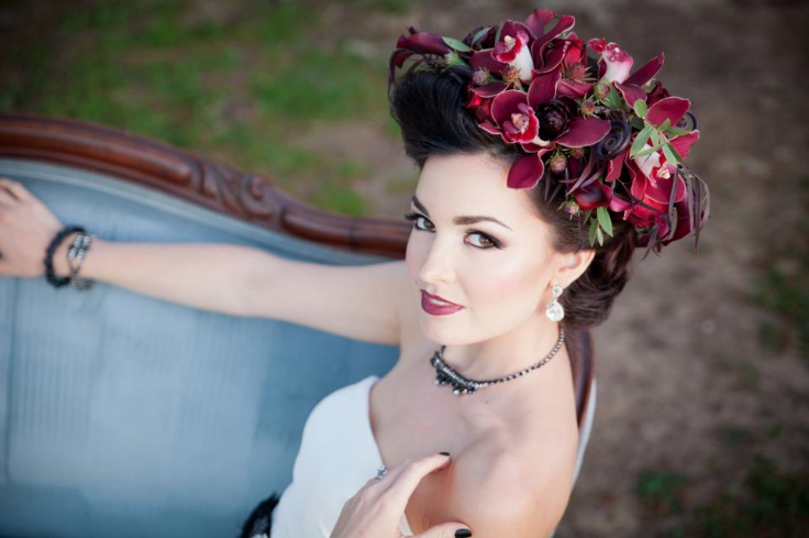 red+burgundy+marsala+wedding+crown+with+flowers+sophisticated+floral+designs+portland+oregon+wedding+florist