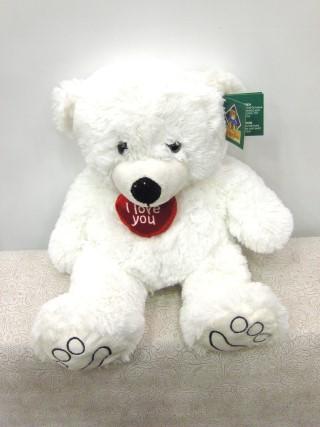 white teddy bear medium 40cm