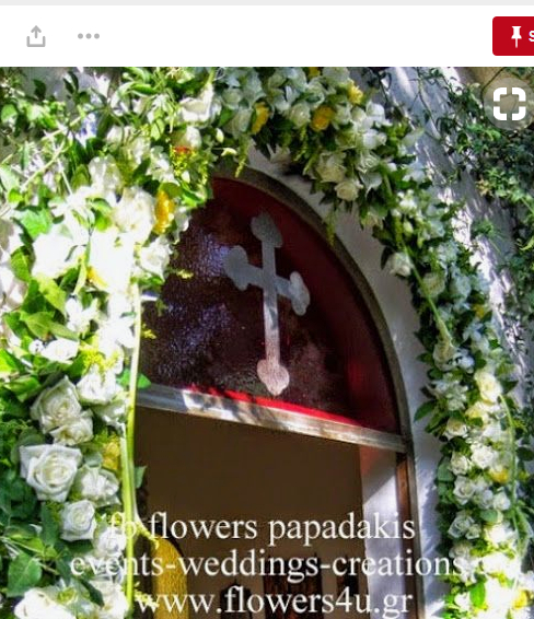 arch garland γιρλάντα εκκλησίας