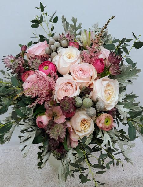 Νυφικό μπουκέτο με Keira garden roses David Austin Flowers Papadakis est 1989