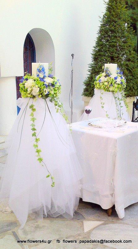 λαμπάδες γάμου στον Αγιο Γεωργιο Καβούρι