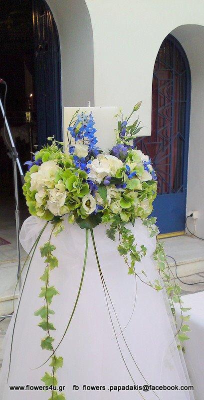 λαμπαδα γάμου στο Αγιο Γεωργιο στο Καβουρι