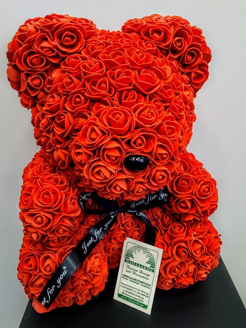 rose teddy bear red
