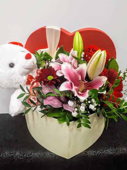 Valentine's heart flowers